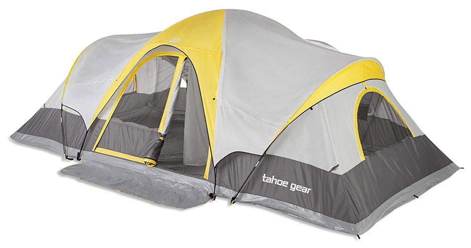 Tahoe Gear Manitoba Family Outdoor 14-Person Camping Tent with Rainfly